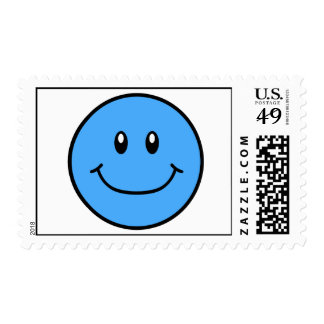 La cara sonriente sella el azul 0001 envio