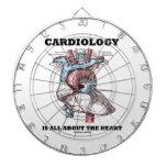 La cardiología está todo sobre el corazón (anatómi tablero dardos