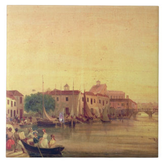 La carenadura, Bridgetown, Barbados, c.1848 Azulejo Cuadrado Grande