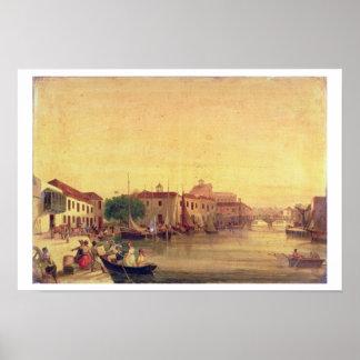 La carenadura, Bridgetown, Barbados, c.1848 Póster