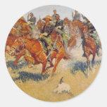 La carga de caballería etiquetas redondas