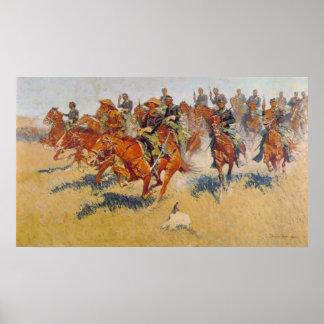 La carga de caballería posters