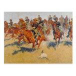La carga de caballería postales