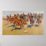 La carga de caballería poster