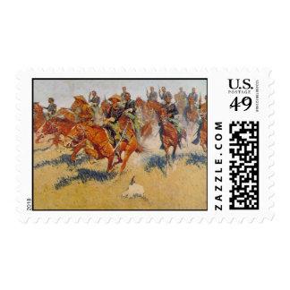 La carga de caballería sello
