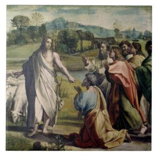 La carga de Cristo a San Pedro (dibujo animado par Azulejo Cuadrado Grande