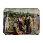 La carga de Cristo a San Pedro (dibujo animado par Imán Rectangular