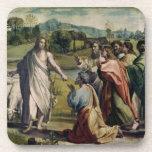 La carga de Cristo a San Pedro (dibujo animado par Posavasos