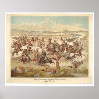 La carga pasada de Custer (0481A) Póster