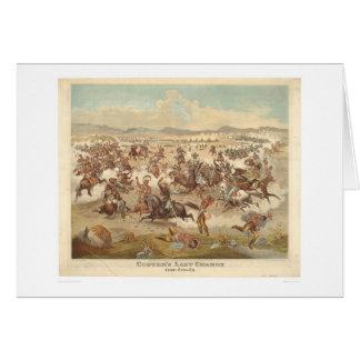 La carga pasada de Custer (0481A) Tarjeta De Felicitación