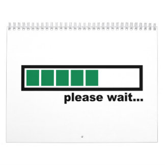 La carga por favor espera calendario