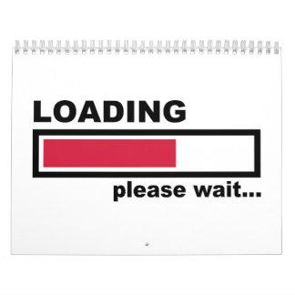 La carga por favor espera calendarios