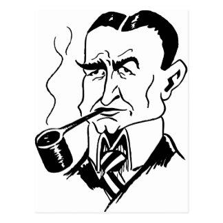 La caricatura Charles bloquea Dawes Tarjeta Postal