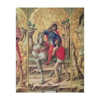 La caridad de San Martín Impresión En Lona