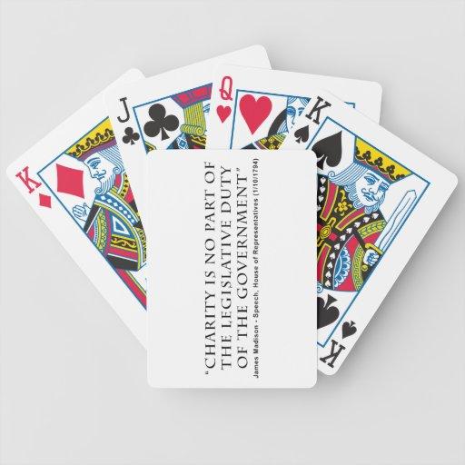 La caridad no es ningún deber legislativo de la pa baraja cartas de poker