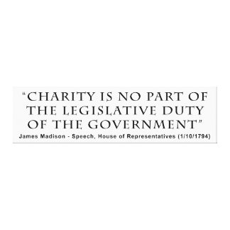 La caridad no es ningún deber legislativo de la pa impresion en lona