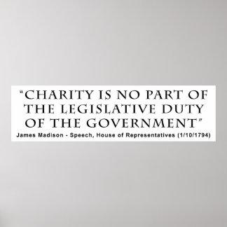 La caridad no es ningún deber legislativo de la pa poster