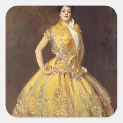 La Carmencita, 1890 Pegatina Cuadrada