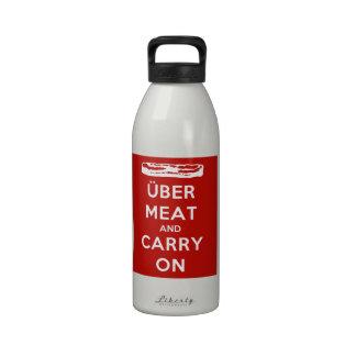 La carne de Über y continúa Botella De Agua Reutilizable