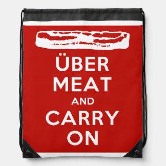 La carne de Über y continúa - el tocino Mochila