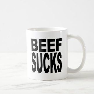 La carne de vaca chupa taza