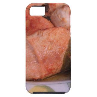La carne de vaca rouladen con el jamón y el queso funda para iPhone 5 tough