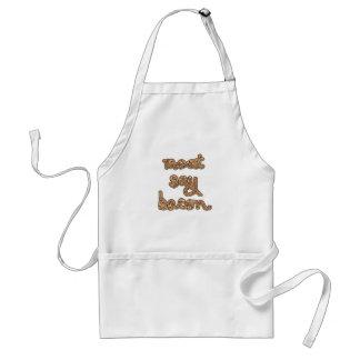 La carne dice las camisetas del tocino, tazas, reg delantal