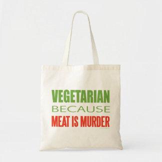 La carne es asesinato - Anti-Carne Bolsa Tela Barata