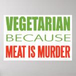 La carne es asesinato - Anti-Carne Impresiones