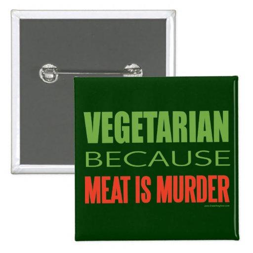 La carne es asesinato - Anti-Carne Pin