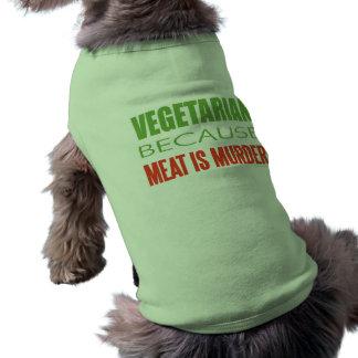La carne es asesinato - Anti-Carne Camisetas De Mascota