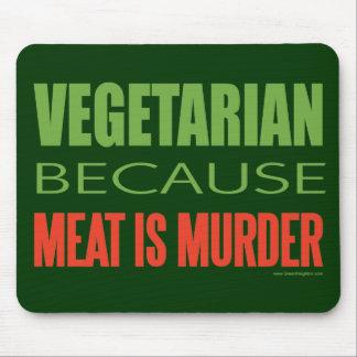 La carne es asesinato - Anti-Carne Alfombrillas De Ratones