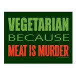 La carne es asesinato - Anti-Carne Tarjetas Postales
