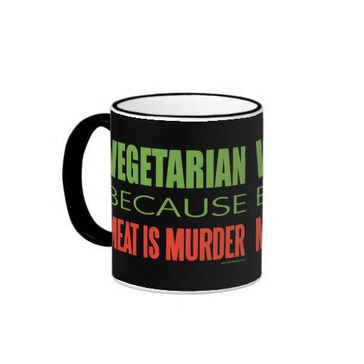 La carne es asesinato - Anti-Carne Taza De Dos Colores