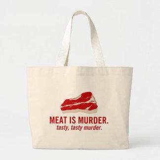 La carne es asesinato, asesinato sabroso bolsas lienzo