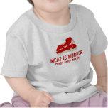 La carne es asesinato, asesinato sabroso camiseta