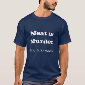 La carne es asesinato, asesinato sabroso, sabroso playera