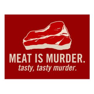 La carne es asesinato, asesinato sabroso tarjeta postal