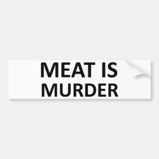 La carne es asesinato pegatina para coche