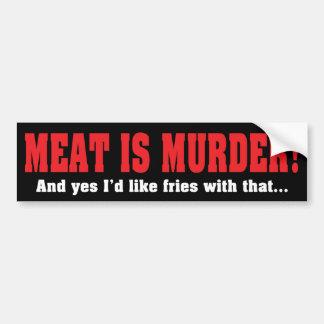 La carne es asesinato