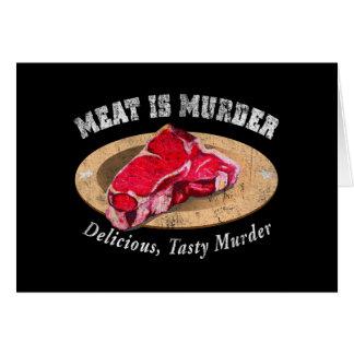 La carne es asesinato - delicioso, asesinato sabro tarjeta de felicitación