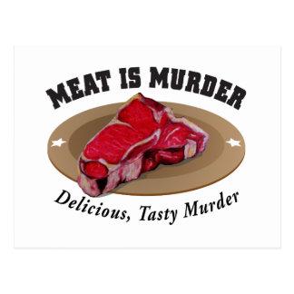 La carne es asesinato - delicioso, asesinato tarjeta postal