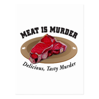 La carne es asesinato - delicioso, asesinato tarjetas postales