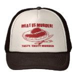 La carne es asesinato gorros bordados