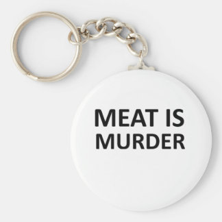 La carne es asesinato llaveros