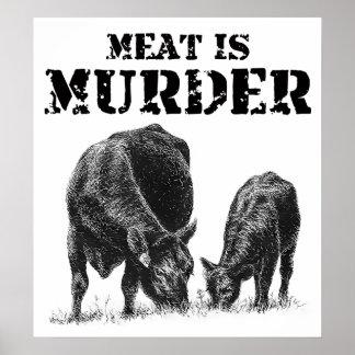 La carne es asesinato póster