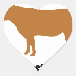 ¡La carne es asesinato! Pegatina En Forma De Corazón