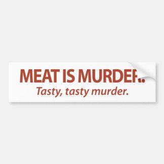La carne es asesinato… sabroso, asesinato sabroso pegatina para auto