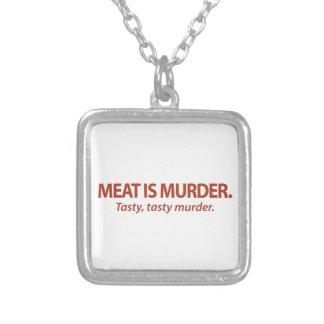 La carne es asesinato… sabroso asesinato sabroso collares personalizados