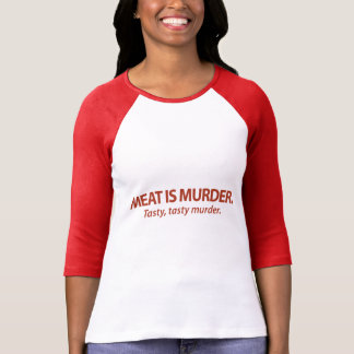 La carne es asesinato… sabroso, asesinato sabroso playera